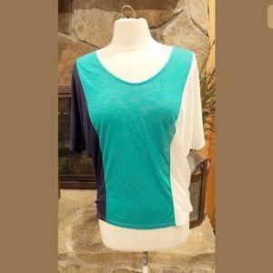 Anthropologie Paper Crane Color Block Shirt M #412